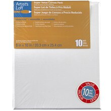 "Artist's Loft Necessities Canvas Super Value Pack, 8"" x 10"", 8"" x 10"""